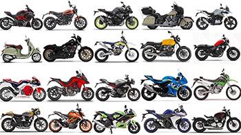 вождение различных мотоциклов