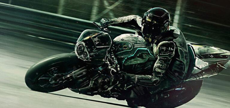 вхождение в поворот на мотоцикле