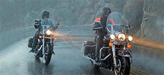 езда на мотоцикле в непогоду